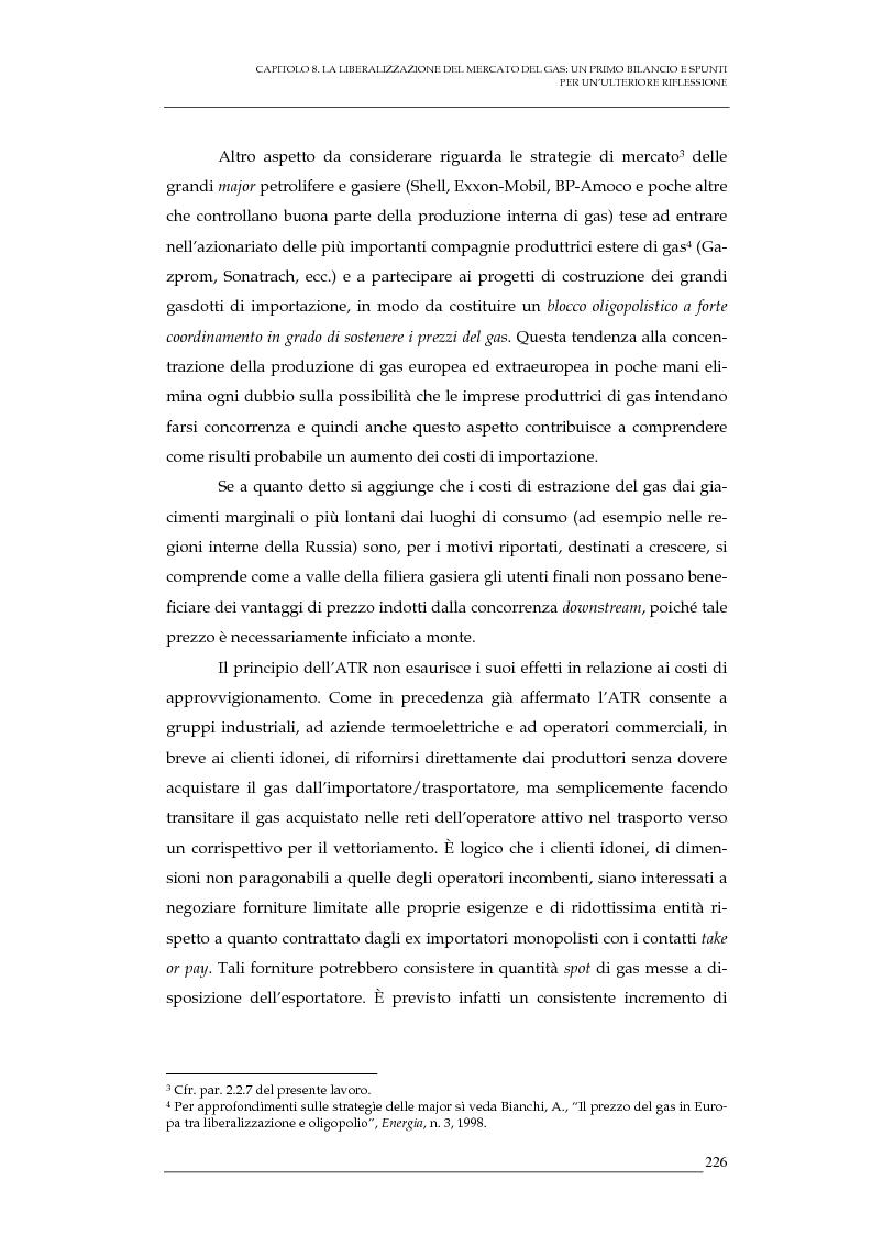 Anteprima della tesi: La liberalizzazione del mercato del gas naturale in Italia e nell'Unione europea. Regolamentazione, prospettive competitive e nuovi assetti strutturali dell'industria di settore, Pagina 9