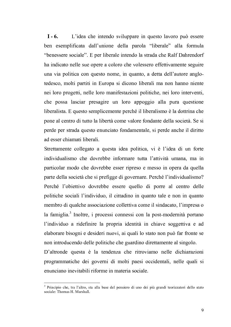 Anteprima della tesi: Le contraddizioni dei moderni welfare states e la riflessione di Ralf Dahrendorf, Pagina 9
