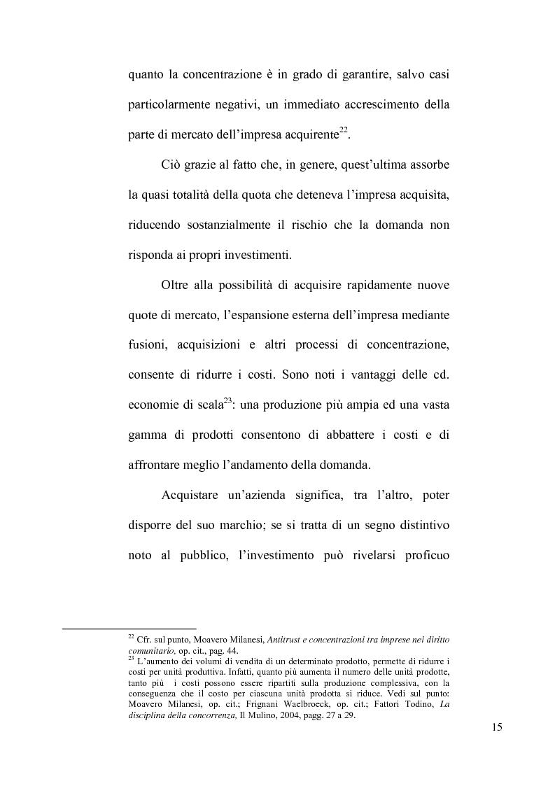 Anteprima della tesi: Le concentrazioni tra imprese nel diritto comunitario della concorrenza, Pagina 10