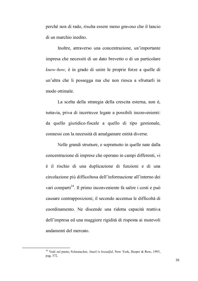 Anteprima della tesi: Le concentrazioni tra imprese nel diritto comunitario della concorrenza, Pagina 11