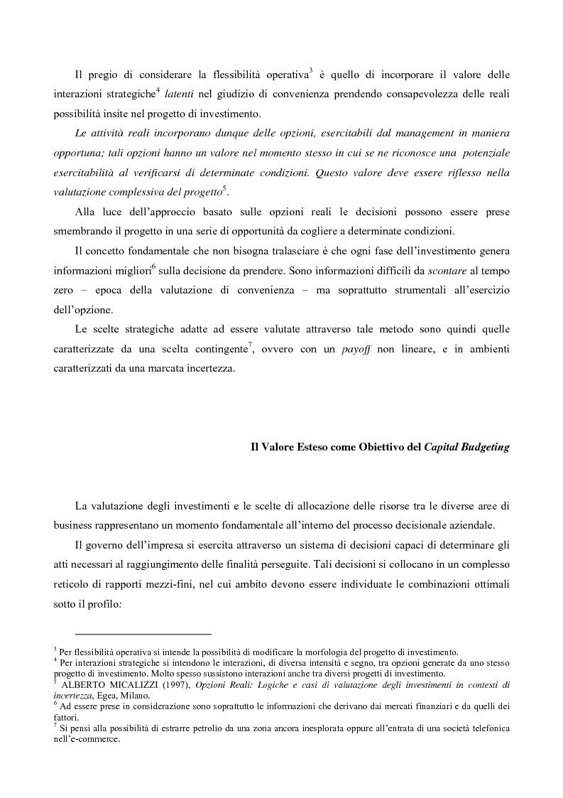 Anteprima della tesi: Il Valore Attuale Esteso - Casi applicativi per valutare progetti di investimento in presenza di incertezza, Pagina 2