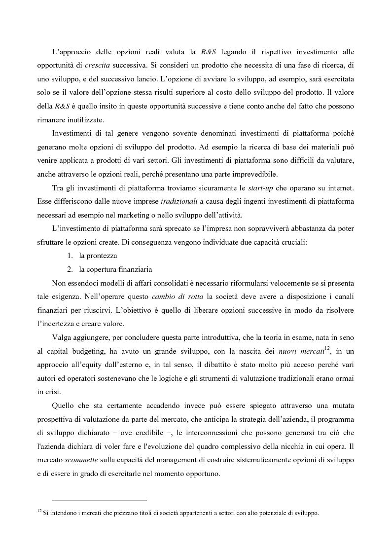 Anteprima della tesi: Il Valore Attuale Esteso - Casi applicativi per valutare progetti di investimento in presenza di incertezza, Pagina 4