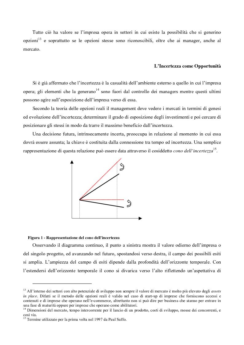 Anteprima della tesi: Il Valore Attuale Esteso - Casi applicativi per valutare progetti di investimento in presenza di incertezza, Pagina 5