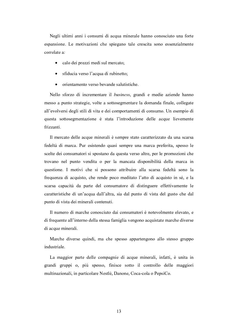 Anteprima della tesi: L'analisi patrimoniale, economica e finanziaria di un'azienda operante nel settore delle acque minerali: il caso Italaquae S.p.A., Pagina 13