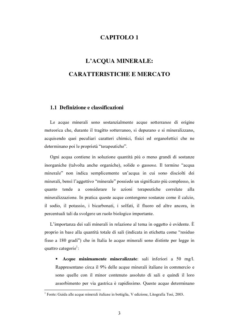 Anteprima della tesi: L'analisi patrimoniale, economica e finanziaria di un'azienda operante nel settore delle acque minerali: il caso Italaquae S.p.A., Pagina 3