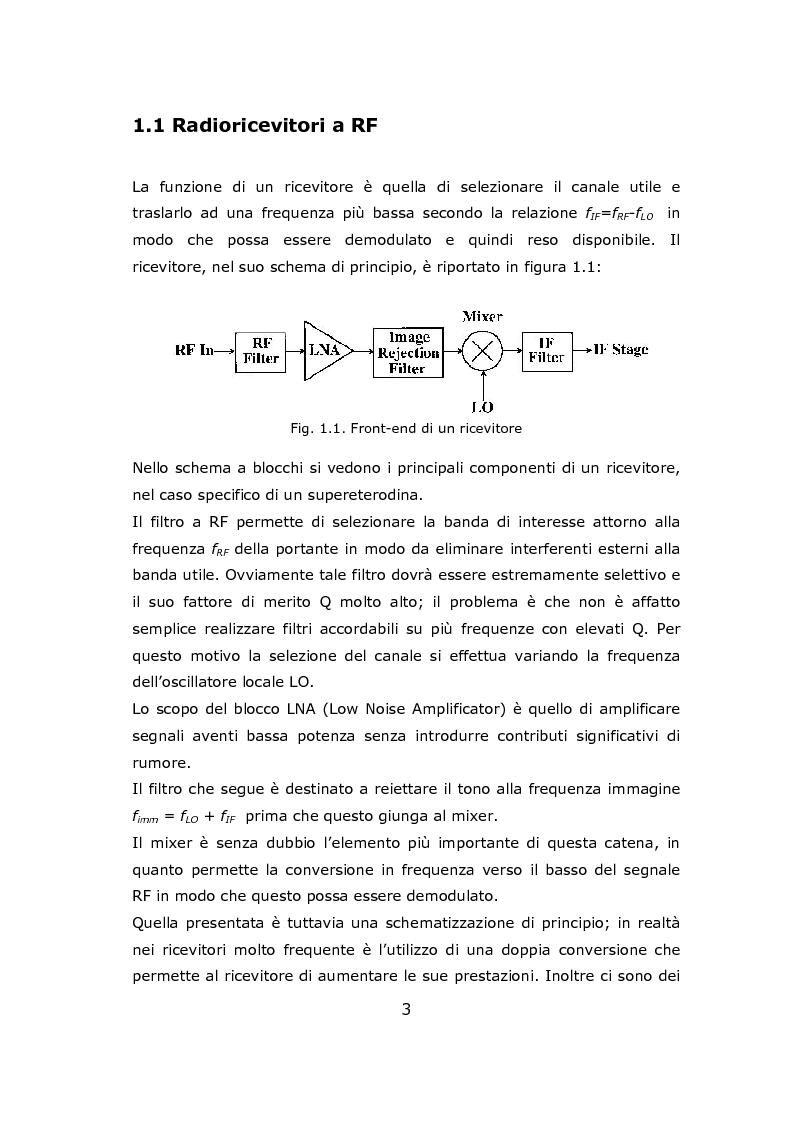 Anteprima della tesi: Progetto circuitale e di layout di un mixer semplicemente bilanciato operante a 13 GHz in tecnologia Si/SiGe BiCMOS a 0.35 micron, Pagina 3