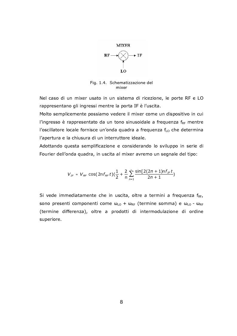 Anteprima della tesi: Progetto circuitale e di layout di un mixer semplicemente bilanciato operante a 13 GHz in tecnologia Si/SiGe BiCMOS a 0.35 micron, Pagina 8