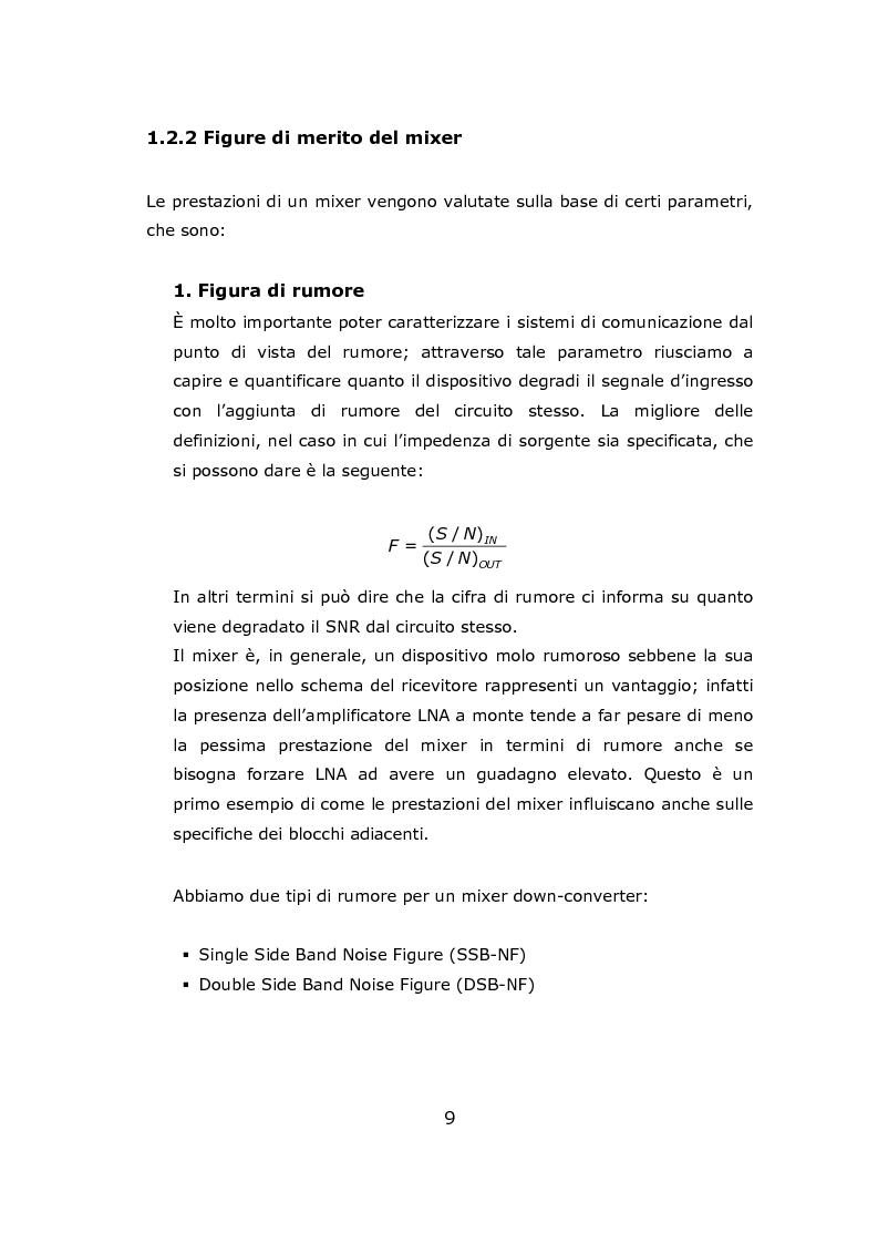 Anteprima della tesi: Progetto circuitale e di layout di un mixer semplicemente bilanciato operante a 13 GHz in tecnologia Si/SiGe BiCMOS a 0.35 micron, Pagina 9