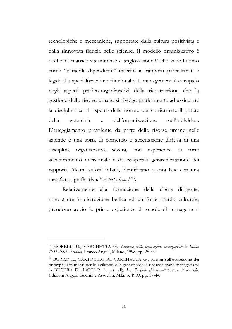 Anteprima della tesi: Outdoor training in Italia. Apprendere dall'esperienza le competenze manageriali., Pagina 10