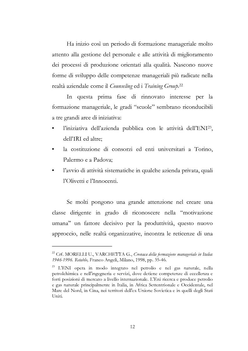 Anteprima della tesi: Outdoor training in Italia. Apprendere dall'esperienza le competenze manageriali., Pagina 12