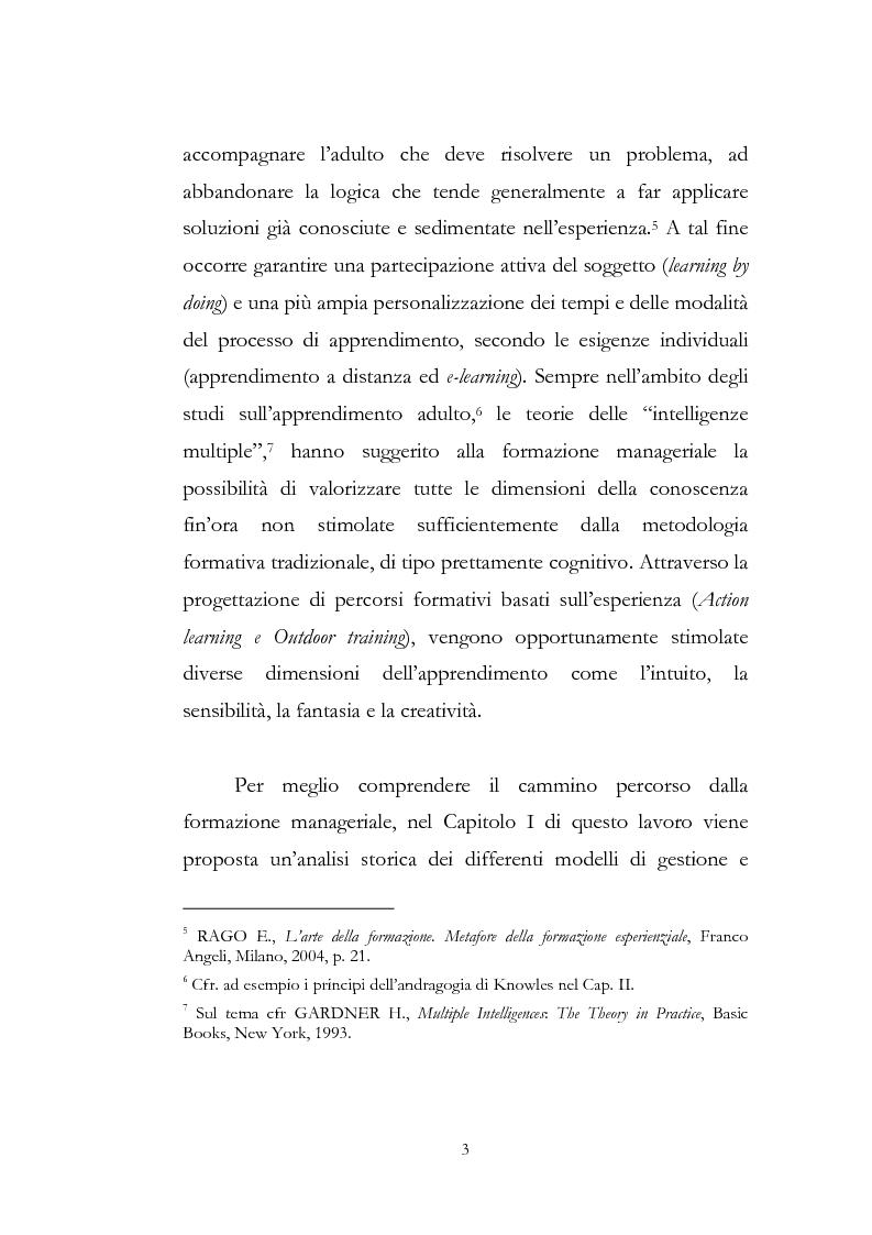 Anteprima della tesi: Outdoor training in Italia. Apprendere dall'esperienza le competenze manageriali., Pagina 3