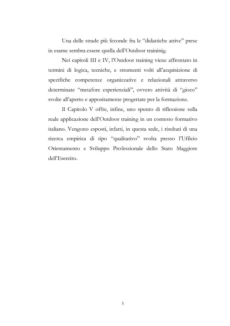 Anteprima della tesi: Outdoor training in Italia. Apprendere dall'esperienza le competenze manageriali., Pagina 5