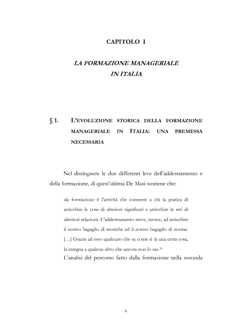 Anteprima della tesi: Outdoor training in Italia. Apprendere dall'esperienza le competenze manageriali., Pagina 6