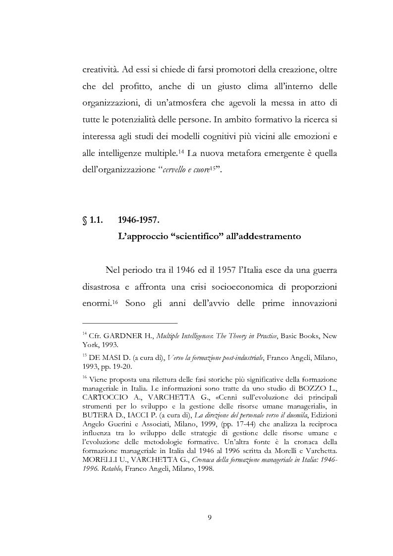 Anteprima della tesi: Outdoor training in Italia. Apprendere dall'esperienza le competenze manageriali., Pagina 9