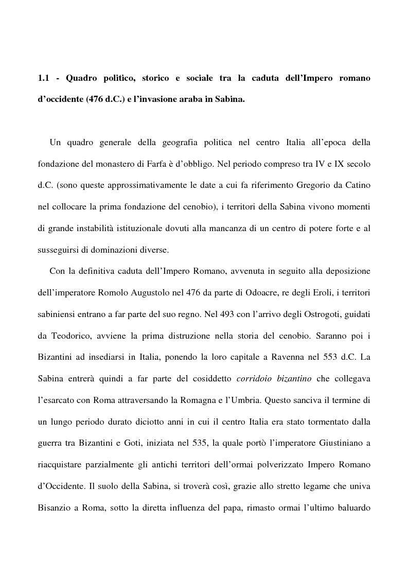 Anteprima della tesi: Saggio su alcuni documenti dell'abbazia di Farfa, Pagina 2