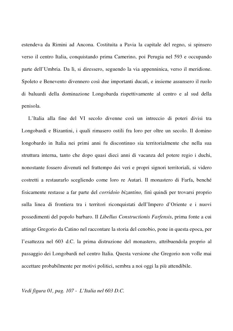 Anteprima della tesi: Saggio su alcuni documenti dell'abbazia di Farfa, Pagina 4
