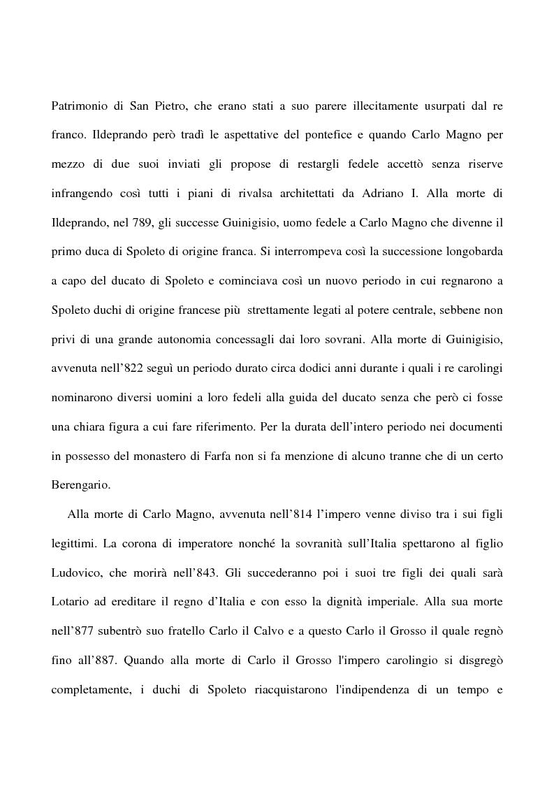 Anteprima della tesi: Saggio su alcuni documenti dell'abbazia di Farfa, Pagina 8