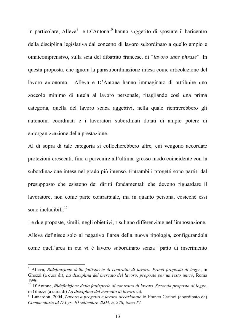 Anteprima della tesi: Il contratto di collaborazione a progetto, Pagina 10