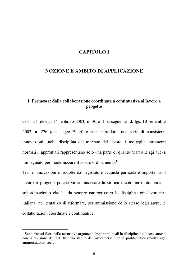 Anteprima della tesi: Il contratto di collaborazione a progetto, Pagina 3