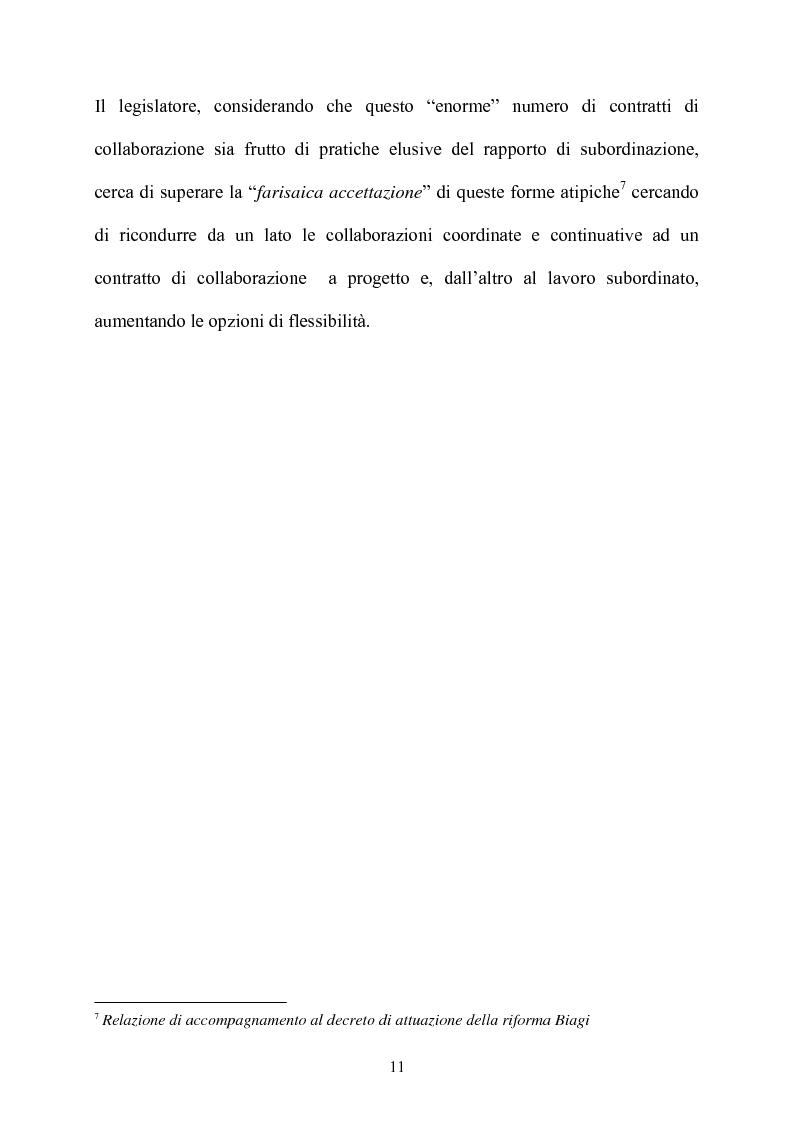 Anteprima della tesi: Il contratto di collaborazione a progetto, Pagina 8