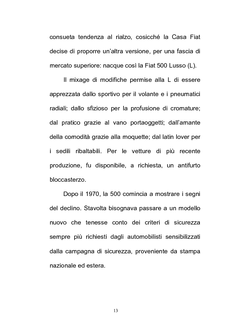 Anteprima della tesi: La FIAT 500 come metafora di un'Italia che cambia, Pagina 13