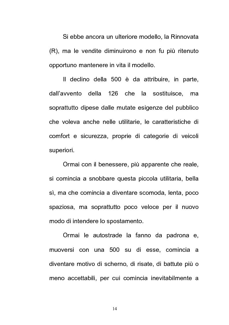 Anteprima della tesi: La FIAT 500 come metafora di un'Italia che cambia, Pagina 14