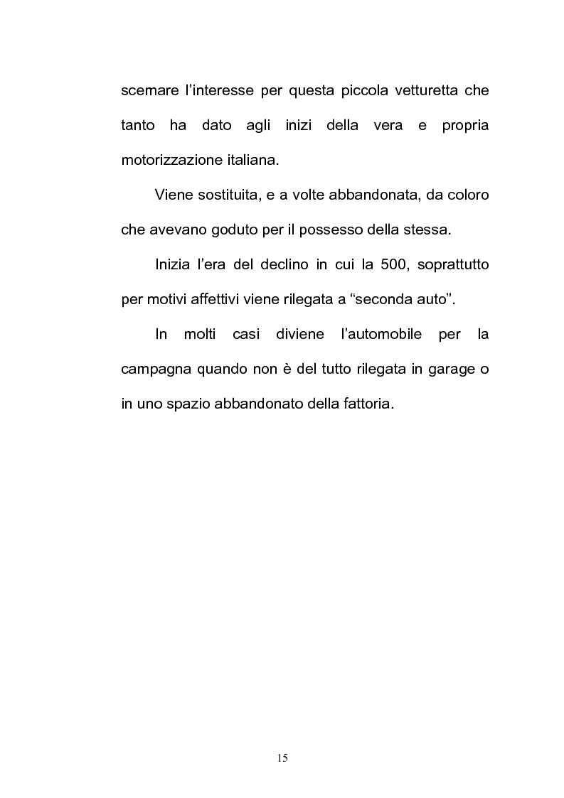 Anteprima della tesi: La FIAT 500 come metafora di un'Italia che cambia, Pagina 15
