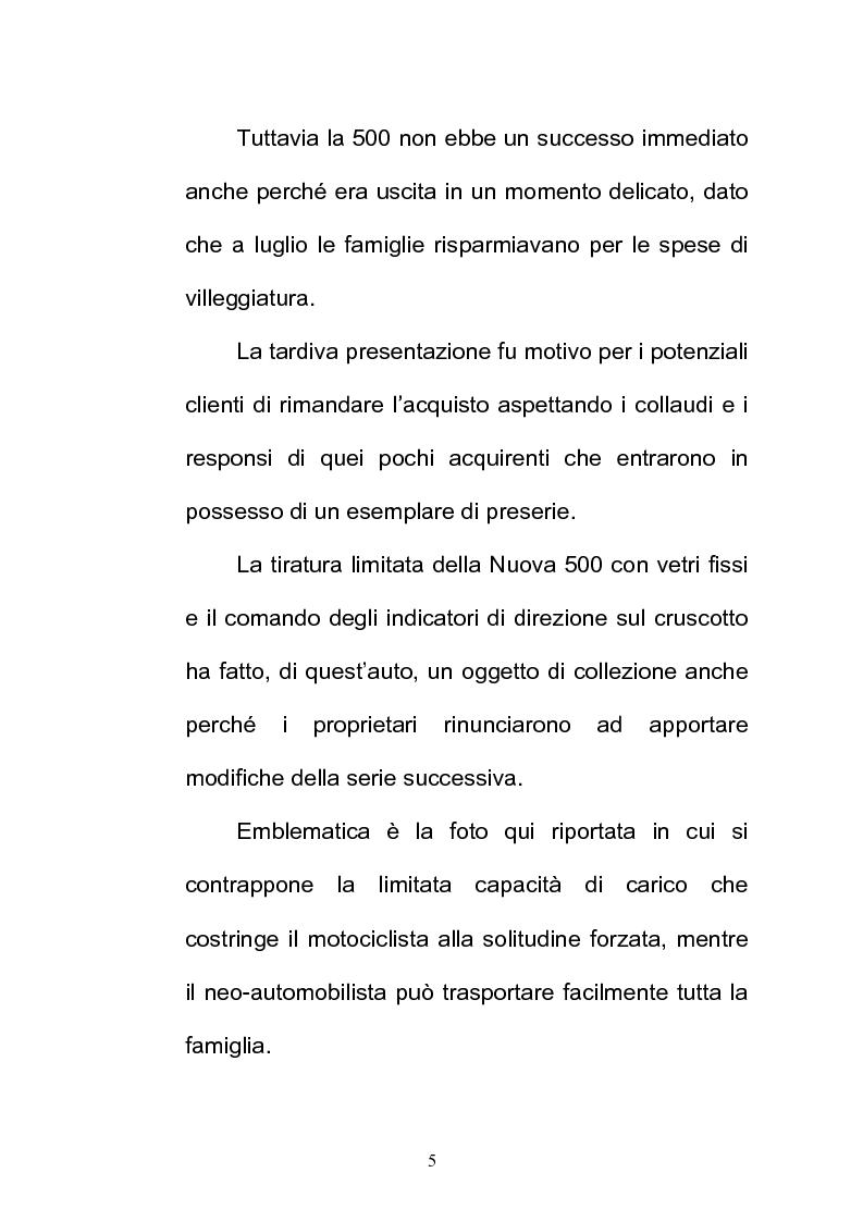 Anteprima della tesi: La FIAT 500 come metafora di un'Italia che cambia, Pagina 5