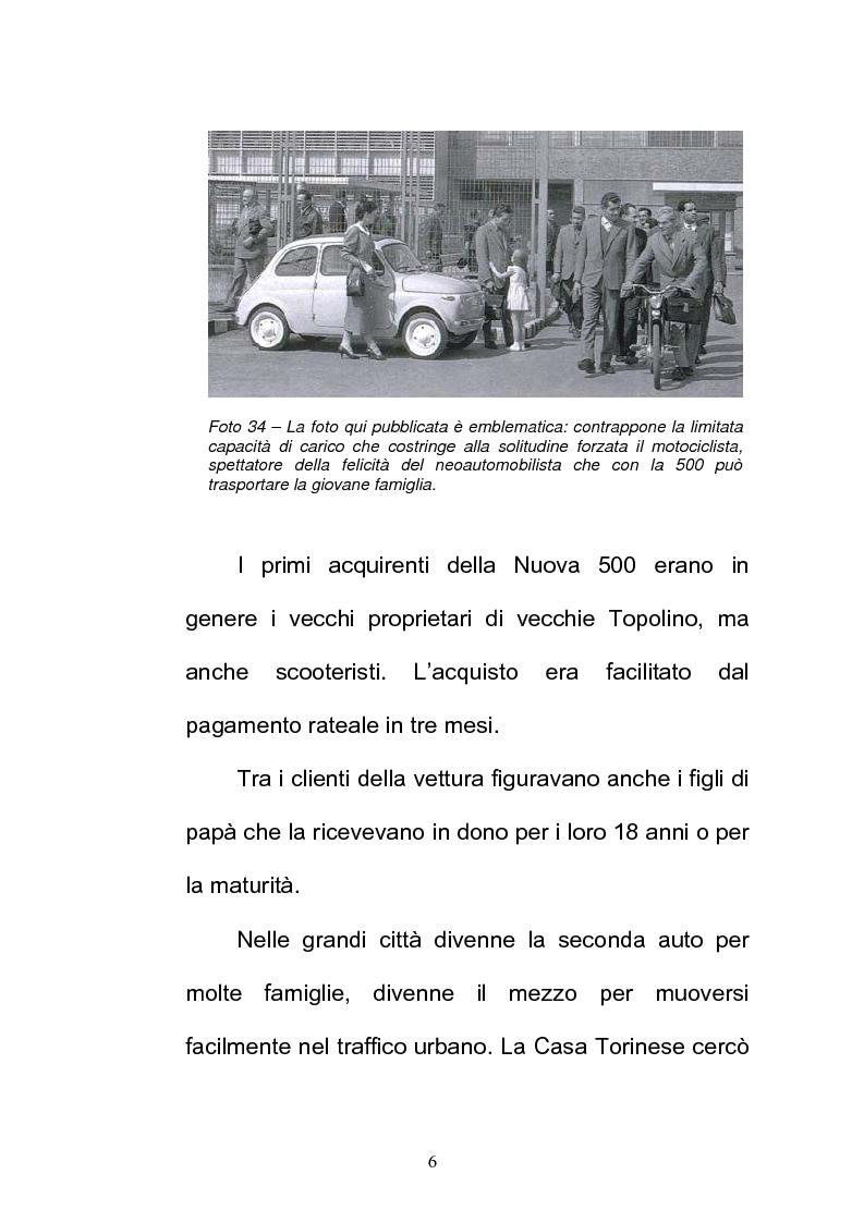 Anteprima della tesi: La FIAT 500 come metafora di un'Italia che cambia, Pagina 6