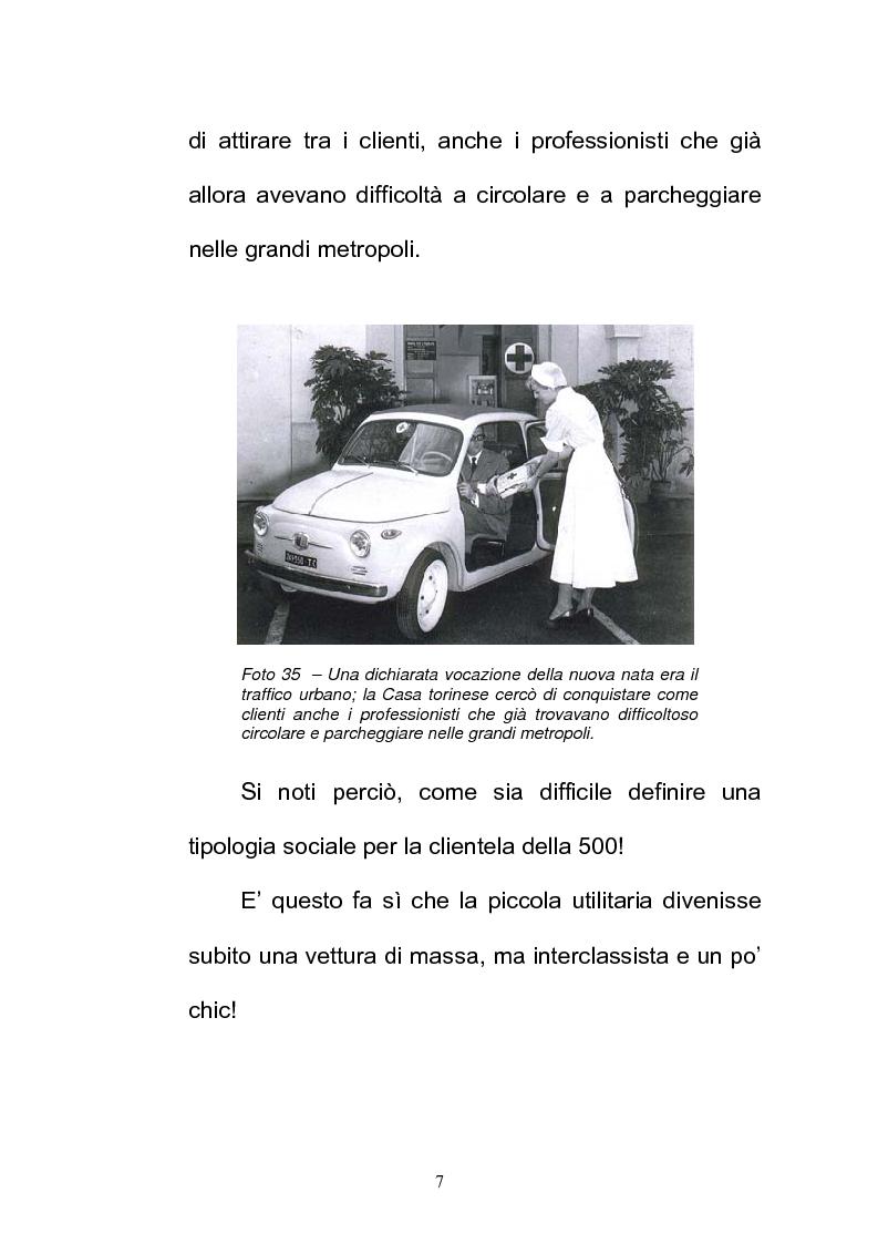 Anteprima della tesi: La FIAT 500 come metafora di un'Italia che cambia, Pagina 7