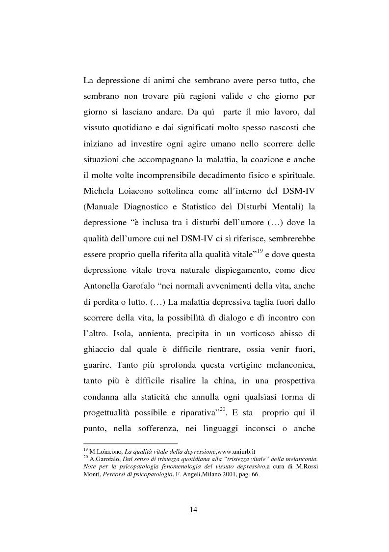 Anteprima della tesi: Il sentimento della perdita nel paziente oncologico e nel tossicodipendente, Pagina 12
