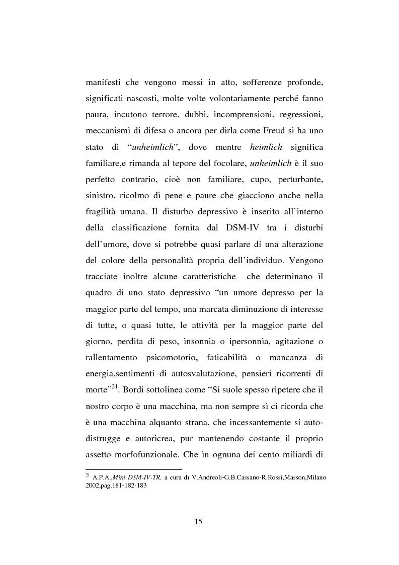 Anteprima della tesi: Il sentimento della perdita nel paziente oncologico e nel tossicodipendente, Pagina 13