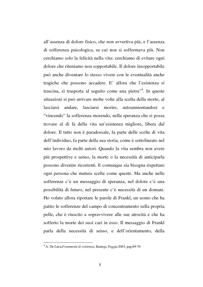 Anteprima della tesi: Il sentimento della perdita nel paziente oncologico e nel tossicodipendente, Pagina 3
