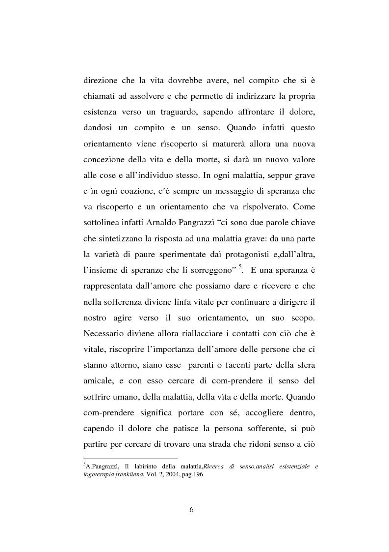 Anteprima della tesi: Il sentimento della perdita nel paziente oncologico e nel tossicodipendente, Pagina 4