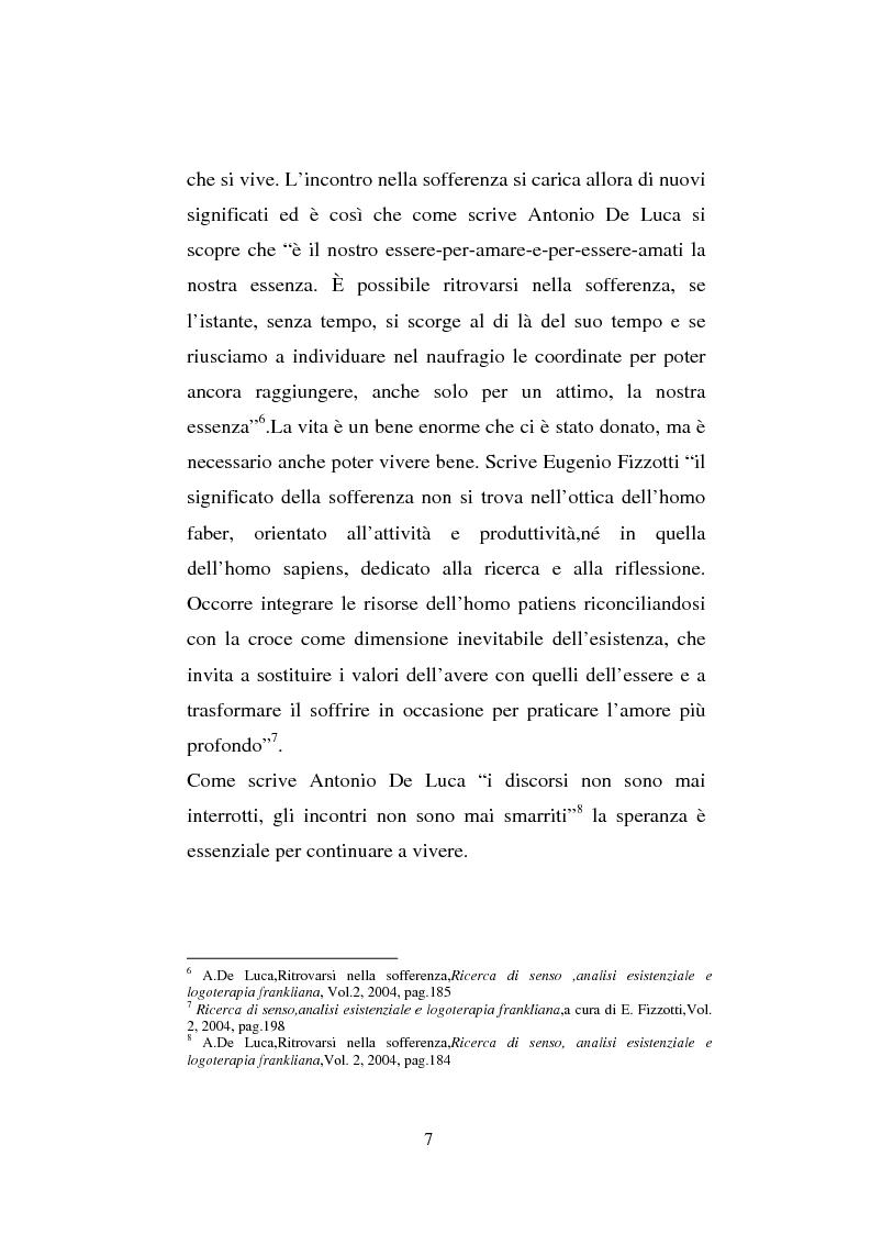 Anteprima della tesi: Il sentimento della perdita nel paziente oncologico e nel tossicodipendente, Pagina 5
