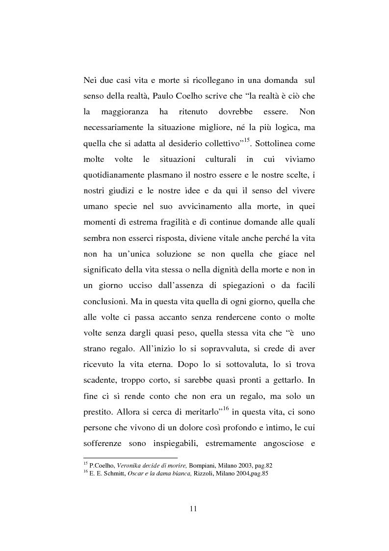 Anteprima della tesi: Il sentimento della perdita nel paziente oncologico e nel tossicodipendente, Pagina 9