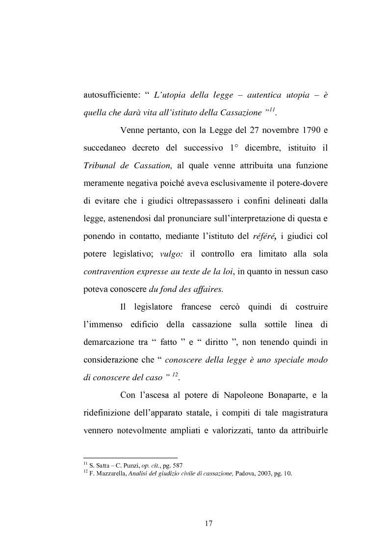Anteprima della tesi: Enunciazione del principio di diritto e decisione della causa nel merito, Pagina 13