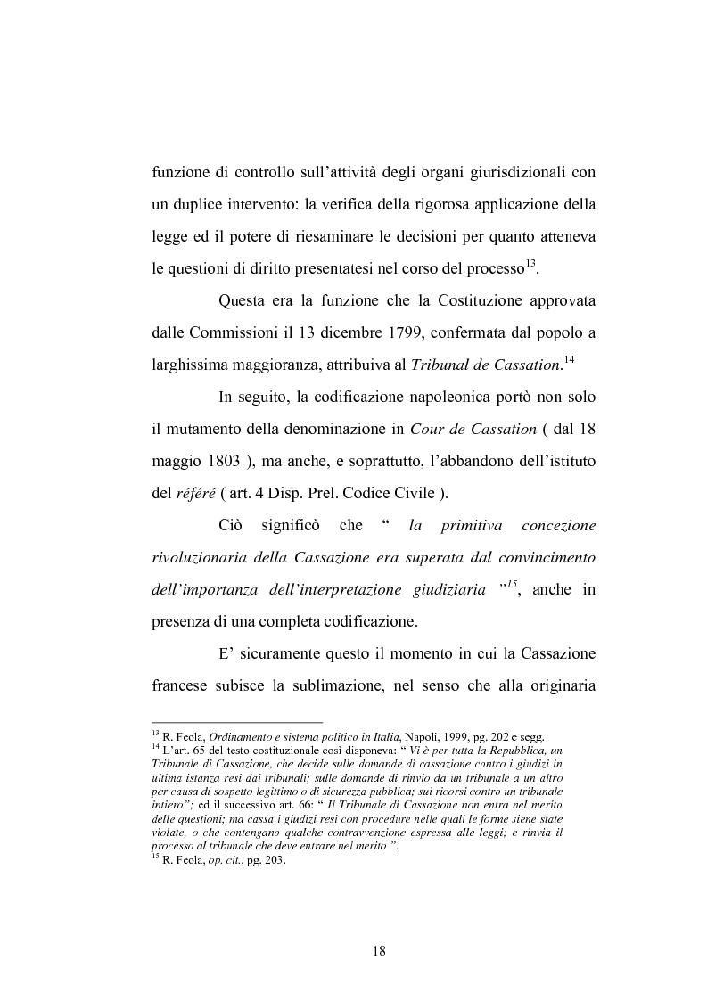 Anteprima della tesi: Enunciazione del principio di diritto e decisione della causa nel merito, Pagina 14
