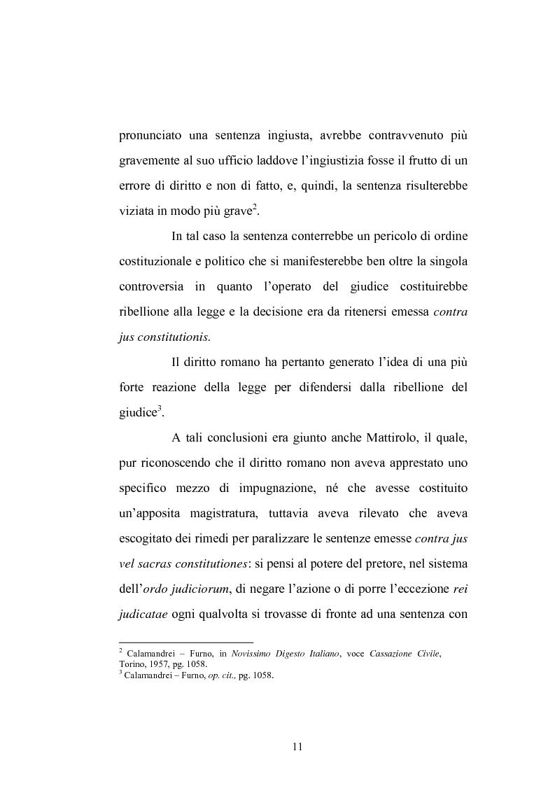 Anteprima della tesi: Enunciazione del principio di diritto e decisione della causa nel merito, Pagina 7