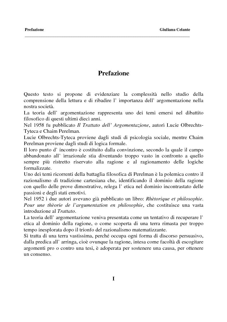 Anteprima della tesi: La capacità di comprensione nella lettura all'uscita della quinta elementare, Pagina 1