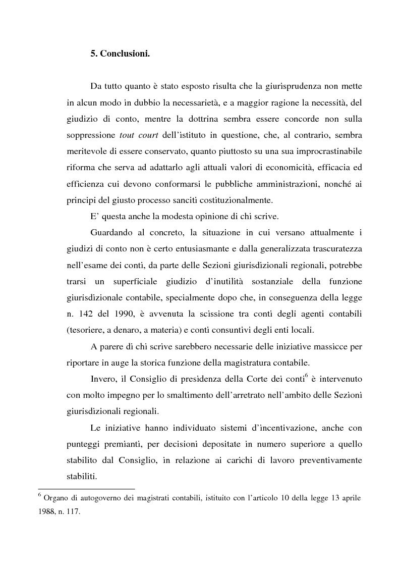 Anteprima della tesi: Attualità del giudizio di conto, Pagina 12