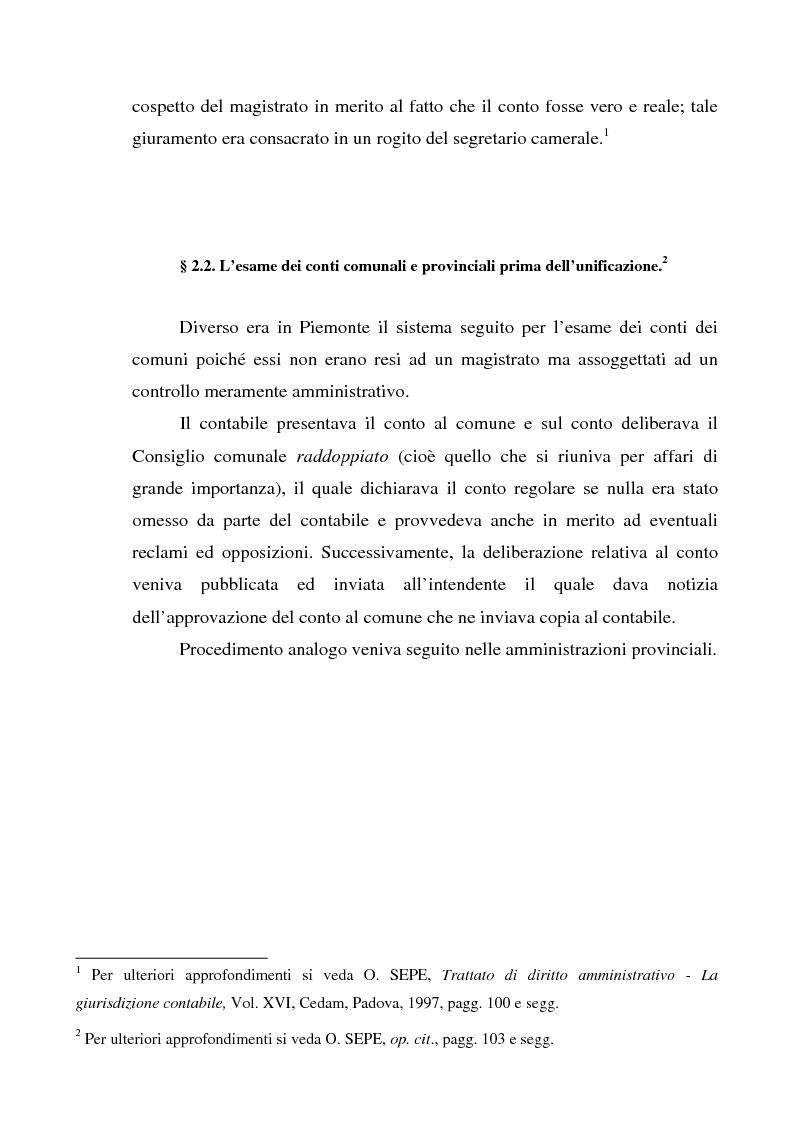 Anteprima della tesi: Attualità del giudizio di conto, Pagina 2