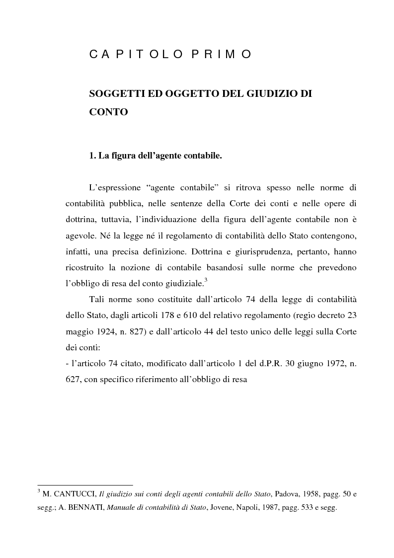 Anteprima della tesi: Attualità del giudizio di conto, Pagina 3
