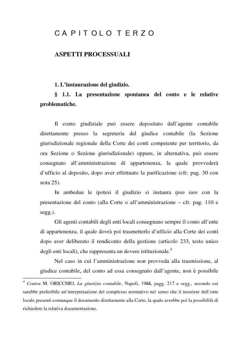 Anteprima della tesi: Attualità del giudizio di conto, Pagina 6