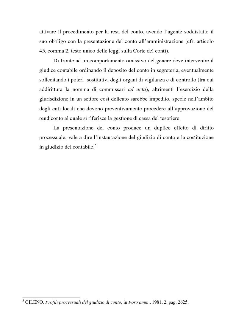 Anteprima della tesi: Attualità del giudizio di conto, Pagina 7