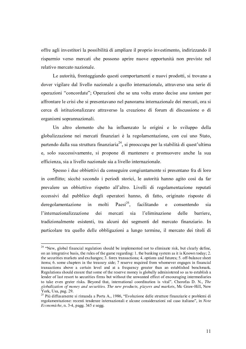 Anteprima della tesi: La cooperazione tra le autorità di controllo sugli intermediari finanziari, Pagina 11