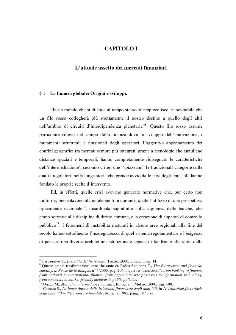 Anteprima della tesi: La cooperazione tra le autorità di controllo sugli intermediari finanziari, Pagina 6