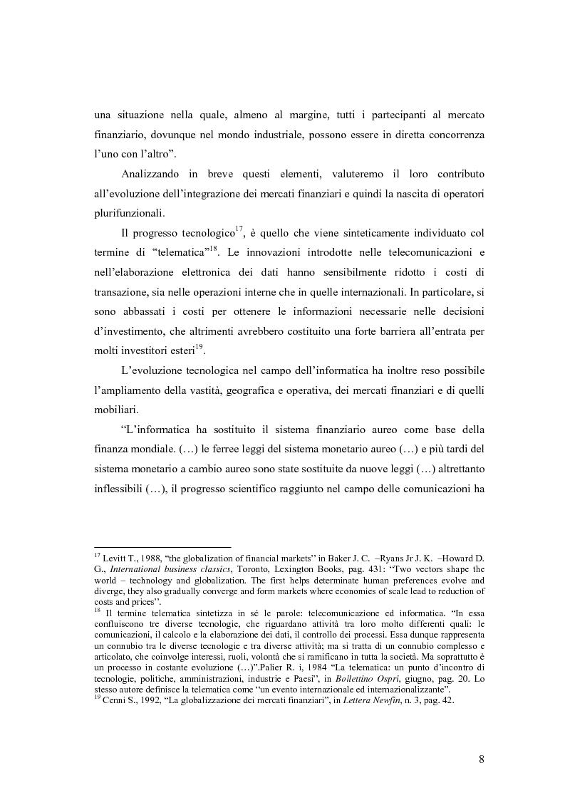 Anteprima della tesi: La cooperazione tra le autorità di controllo sugli intermediari finanziari, Pagina 8