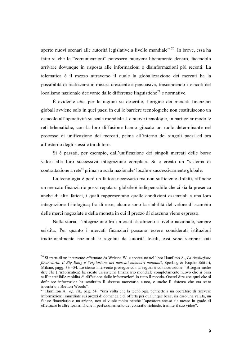 Anteprima della tesi: La cooperazione tra le autorità di controllo sugli intermediari finanziari, Pagina 9