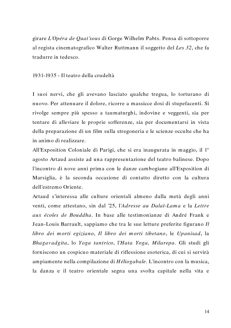 Anteprima della tesi: Antonin Artaud: teatro, delirio e spazio scenico, Pagina 14